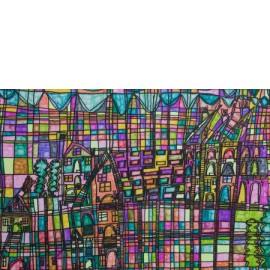 Landschap met huizen - Richard Nijhuis