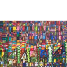 Straat met huizen - Richard Nijhuis
