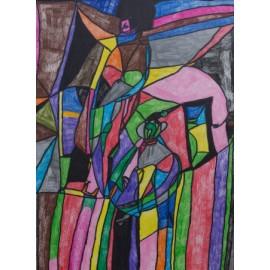 2 personen in kleur - 5036