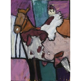 Paard met witte ogen - Bertus Bruns