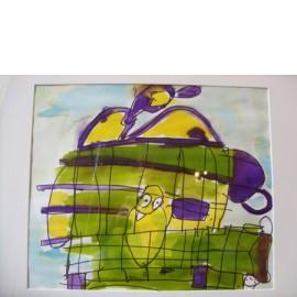 Abstract (de gouden kooi) - Annette Koenderink