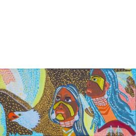 Indianen met vogel - Monique van der Zalm