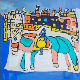 Paard bij kasteel - Sharone Zandhuis