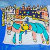 Paard bij kasteel - foto 2785