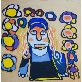 Vrouw met oranje haar - Sharone Zandhuis