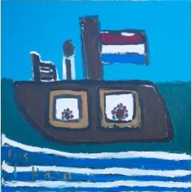 Boot op het water - Jose de Haan