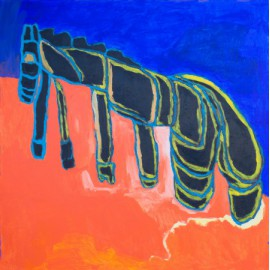 Zwart paard - Sharone Zandhuis