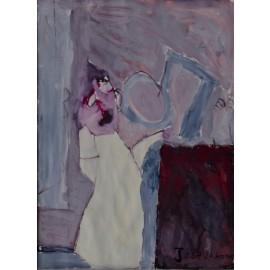 Vrouw in deuropening - 5020