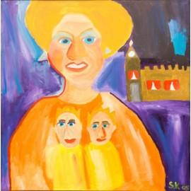 Vrouwengezicht - Sandra Kolk