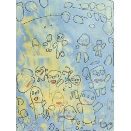 Poppetjes in geel/blauw - 4953