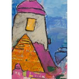 Roze dak - Bertus Bruns