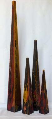 pyramide kaarsen in diverse kleuren