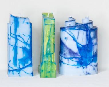 kaarsen in diverse vormen en kleuren (overleg mogelijk)